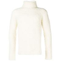 Ermenegildo Zegna High Neck Knit Sweater - Branco