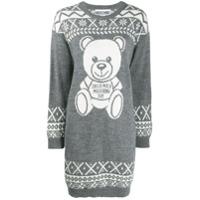Moschino Vestido De Tricô Teddy Bear - Cinza