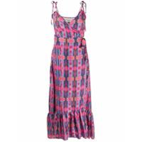 Jessie Western Vestido De Seda Com Estampa Geométrica - Rosa
