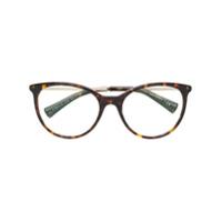 Bulgari Armação De Óculos Oversized - Marrom