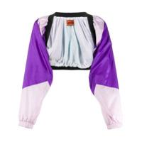 Colville Colour Block Cropped Jacket - Roxo