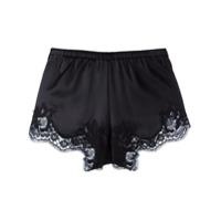 Dolce & Gabbana Underwear Short Com Recortes De Renda - Preto