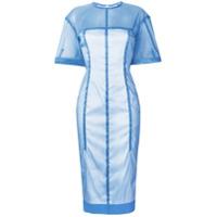 Victoria Beckham Vestido Slim Midi - Azul