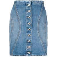 Marcelo Burlon County Of Milan Saia Jeans Com Abotoamento - Azul