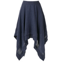 Olympiah Saia Midi Violette - Azul