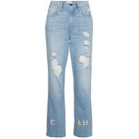 Frame Calça Jeans Boyfriend 'le Embroidery' - Azul