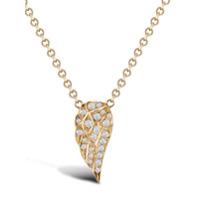 Pragnell Pingente Tiara De Ouro 18K Com Diamante - Rosa