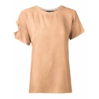 Uma | Raquel Davidowicz Camiseta Com Recorte - Amarelo