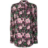 Magda Butrym Camisa Com Estampa Floral - Preto