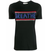 Être Cécile Camiseta 'breathe' - Preto