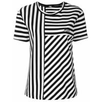 Karl Lagerfeld Camiseta Listrada - Preto