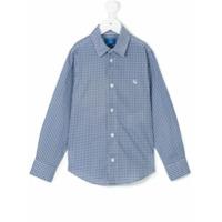 Fay Kids Camisa Estampada - Azul