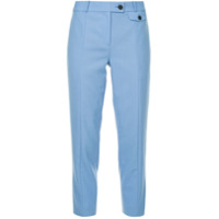 Ck Calvin Klein Cropped Tailored Trousers - Azul