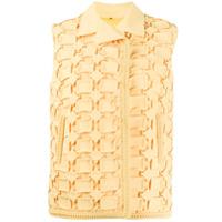 Marco De Vincenzo Colete Com Textura Geométrica - Amarelo
