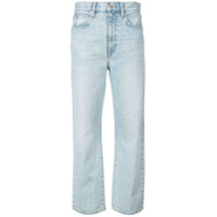 Slvrlake Calça Jeans London Cropped - Azul