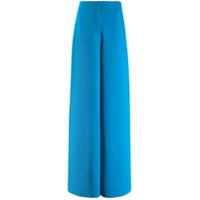 Emilio Pucci Calça Pantalona Cintura Alta - Azul