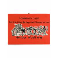 Olympia Le-Tan Bolsa Clutch 'community Chest' - Laranja