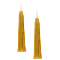 Eddie Borgo Long Tassel Earrings - Amarelo