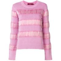 Sies Marjan Velvet Stripe Sweater - Rosa
