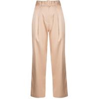 Fleur Du Mal Calça Pantalona Com Cinto - Neutro