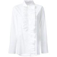 Marni Camisa Com Detalhe De Babado - Branco