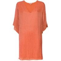 A.brand Vestido Decote V Bordado - Rosa
