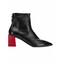 Marsèll Ankle Boot De Couro Com Salto Contrastante - Preto
