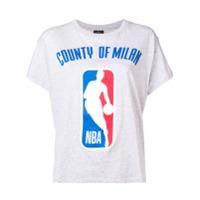 Marcelo Burlon County Of Milan Camiseta Com Estampa 'nba' - Cinza
