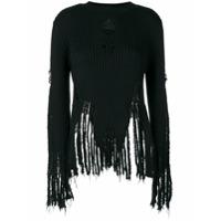 Balmain Suéter Com Efeito Desgastado - Preto