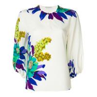 Etro Blusa de seda com estampa floral - Branco