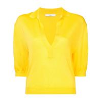 Tibi Camisa Polo Mangas Curtas - Amarelo
