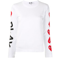 Comme Des Garçons Play Blusa Decote Careca Com Estampa De Logo - Branco