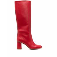 Red(V) Bota Cano Longo Red(V) Com Salto 75Mm - Vermelho