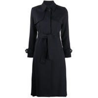 Sandro Paris Trench Coat Com Cinto - Azul