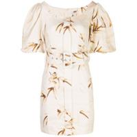 Shona Joy Vestido Com Padronagem Floral E Cinto - Branco