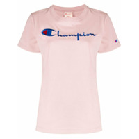 Champion Camiseta Com Logo Bordado - Rosa