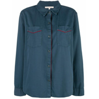 Xirena Camisa Com Bolso No Busto - Azul