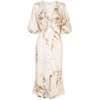 Shona Joy Vestido Com Detalhe De Nó E Abotoamento - Branco