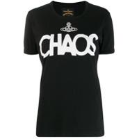 Vivienne Westwood Anglomania Chaos Print T-Shirt - Preto