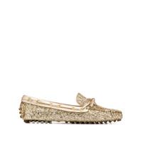 Car Shoe Mocassim Com Brilho - Dourado