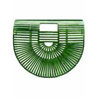 Cult Gaia Clutch Translúcida - Green