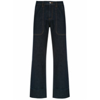 Andrea Bogosian Calça Jeans Pantalona - Azul