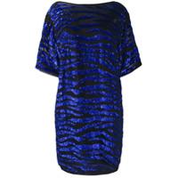 P.a.r.o.s.h. Vestido Com Paetês - Azul