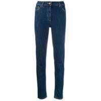 Moschino Calça Jeans Skinny Com Bordado - Azul
