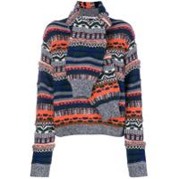 Carven Suéter De Tricô Canelado - Azul
