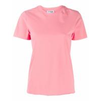 Courrèges Camiseta Decote Careca - Rosa