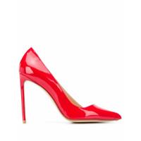 Francesco Russo Sapato Bico Fino Assimétrico - Vermelho
