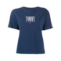 Tommy Jeans Camiseta Com Logo Bordado - Azul