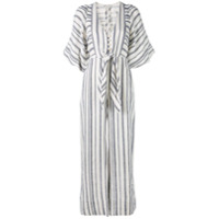 Shona Joy Vestido Kaftan Listrado - Branco