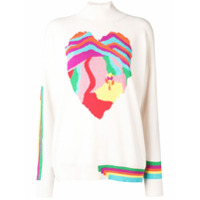 Barrie Heart Cashmere Sweater - Branco